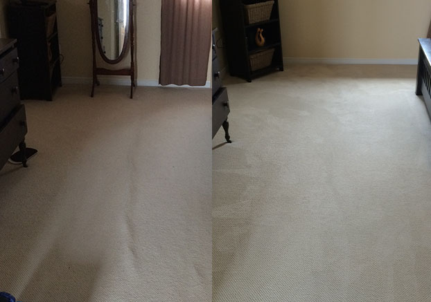 before after carpet stretching